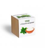 Stevia /szítvia/ - ajándék növény fa kaspóval