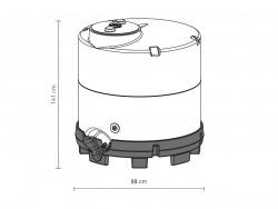 500 literes Speidel műanyag tartály mérete