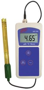 AD 110 digitális hordozható pH- (savfok) és hőmérsékletmérő