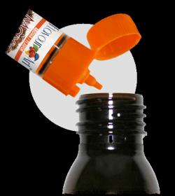 Pontosan adagolható: cseppentős kupakkal rendelkezik a FlavourtArt aroma