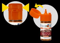 Könnyen nyitható: kupakkal rendelkezik a FlavourtArt aroma