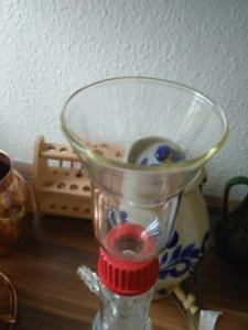 Automatikus illóolaj leválasztó laborüvegből - tölcsér