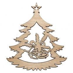Fenyőfa haranggal fa karácsonyfadísz