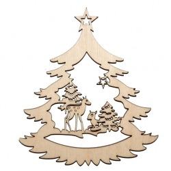 Őzikék fa karácsonyfadísz
