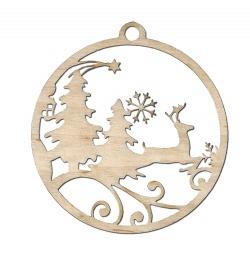 Szarvas fa karácsonyfadísz