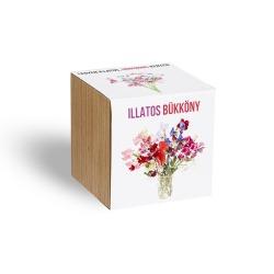 Illatos bükköny, egy virág a varázslatos unikornis kertből - ajándék növény fa kaspóval