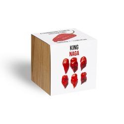 King Naga, a szellem chili paprikák klasszikusa - ajándék növény fa kaspóval