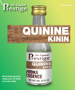 Kinin vodka Prestige esszencia