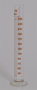 Üveg mérőhenger, 250 ml-es