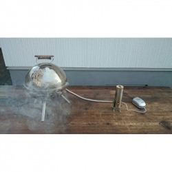 Nemesacél gégecső a hidegfüst elvezetéséhez, füstölés közben