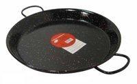 Paella tál, fekete zománcozott