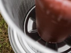 Hidraulikus gyümölcsprés, nemesacél, SPEIDEL belseje (membrán)