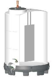 Cefréző hordó hőcserélővel (az 1.000 és 1.500 litereshez kiegészítésként rendelhető)