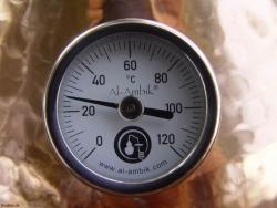 Német 1-es ipari norma minőségű gőzhőmérő pálinkafőzőkhöz