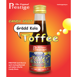 Toffee Caramel Candy Shot Prestige esszencia - édes likőr