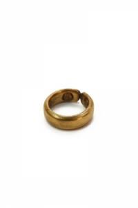 Vörösréz gyűrű mágnessel, aranyozott