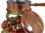 Fondü edény spirituszégővel, készlet